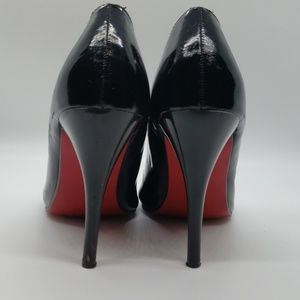 Red bottom Black Patent leather shoes
